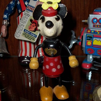 Minnie Mouse Fun-E-Flex Wooden Toy Figure - Dolls