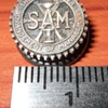 "screwback lapel pin ""SAM"""