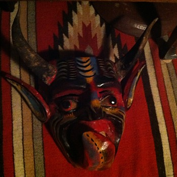 This is my Mexican mask devil  - Visual Art