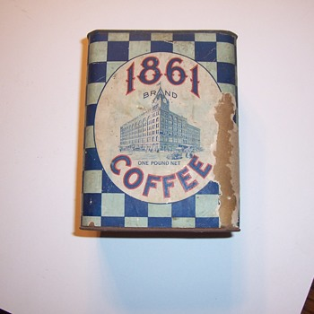 1lb.  1861 COFFEE TIN - Advertising