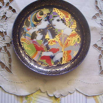 "GERMAN (ROSENTHAL) FANTASY PLATE HEAVY GILT, ""ALADIN UND DIE WUNDERLAMPE"", ARTIST SIGNED - Visual Art"