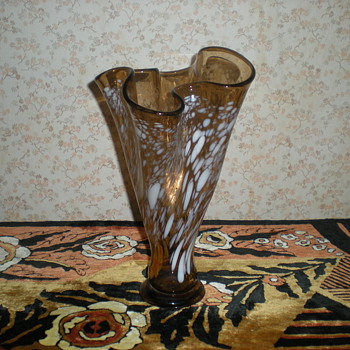 Spatter glass  vase.