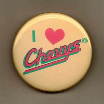 """Chevy's"" Restaurant Pinback - Advertising"