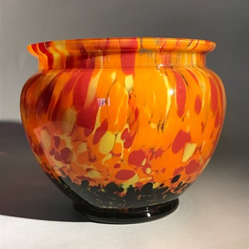 Czech Bohemian Glass Bowl