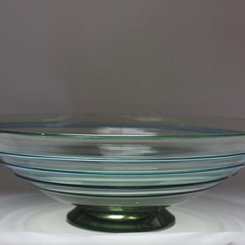 Ribbon Trail Bowl - Art Glass
