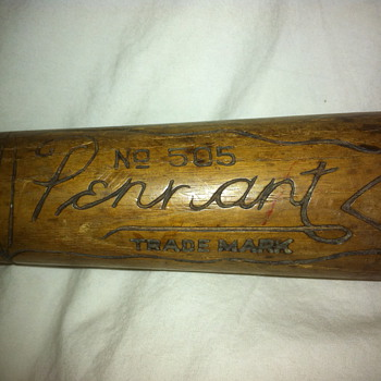 "Pennant No. 505 ""Knock Out"" Antique Baseball Bat"