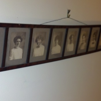 Vintage Framed Photographs of Nine Women