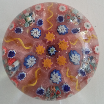 Pretty Art Glass Paperweight