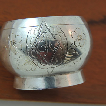 Russian/Prussian Silver or French Silver Plate Salt Cellar - Sterling Silver