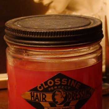 Art Deco Glossine Perfect Hair Dressing Jar