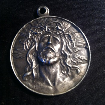Jesus Coin- Virgin of Guadalupe Sterling Medallion pendant.