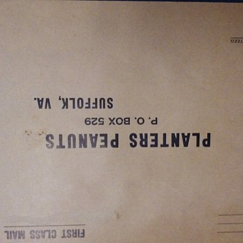 preaddressed envelope to Planters Peanuts Suffolk, VA