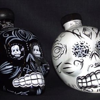 KAH Tequila Mardi Gra Skull Bottles