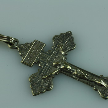 Victorian gothic revival cross pendant - Fine Jewelry