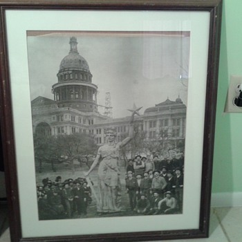 Goddess Of Liberty Austin Texas 1880's - Photographs