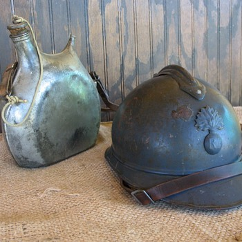 French Adrian M1915 Infantry steel helmet - Military and Wartime