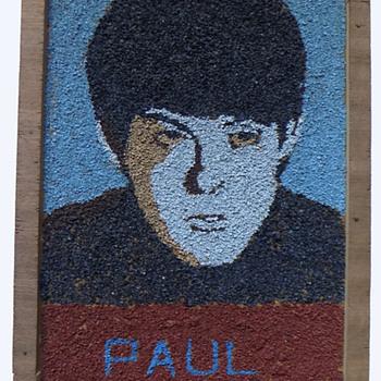Original 1964 Beatles Folk Art of Paul McCartney