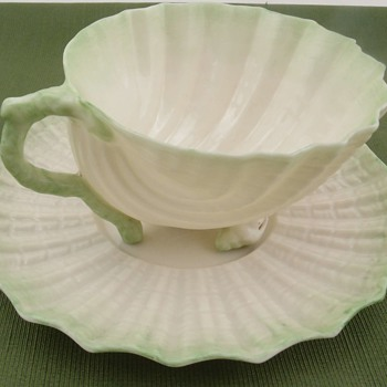 Belleek Neptune Cup and Saucer - 2nd mark