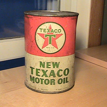New Texaco Motor Oil Can - Petroliana