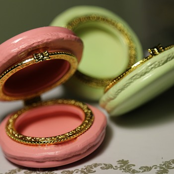 Two's Company Macaron Limoges Trinket Boxes