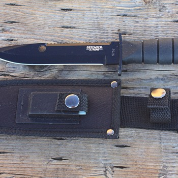"""DEFENDER XTREME"" #5752 FIXED BLADED MILITARY-Style CAMPING/HUNTING KNIFE - Tools and Hardware"