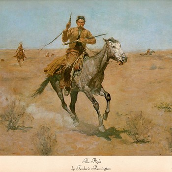 "Frederic Remington print - ""The Flight"" - Visual Art"