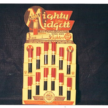 Mighty Midgett King Size Lighter Display - Military and Wartime