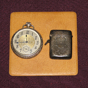 Vintage Dueber Hampden Pocket Watch....and Match Safe - Pocket Watches