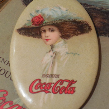 1910 Coca-Cola Pocket Mirror - Coca-Cola