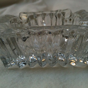 american cut? glass ashtray