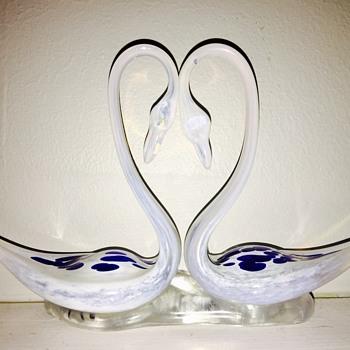 Glass swans - Art Glass