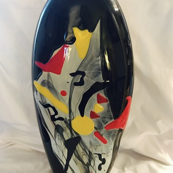 XL Abstract Style Mystery Art Glass Vase
