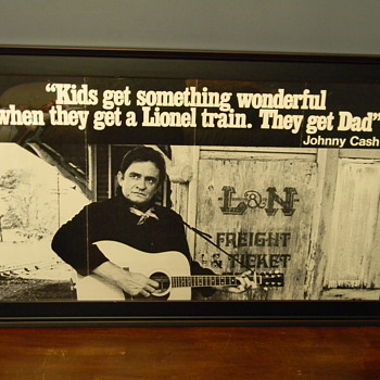 Rare Johnny Cash Promotional Poster for Lionel Trains? - Posters and Prints