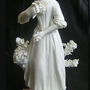 Antique CROWN DERBY Bisque Figurine Chelsea Seaons Circa 1770