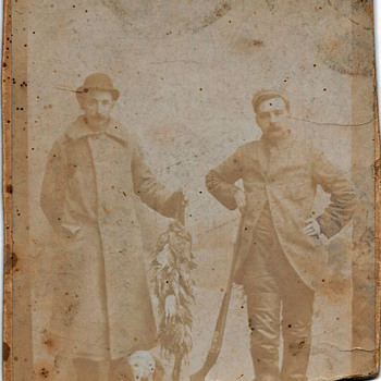 Old photo of local doctor,his friend,and his bird dog - Photographs