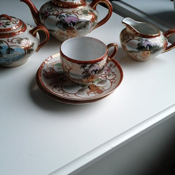 Asian tea set -bits and pieces with trademark - Asian