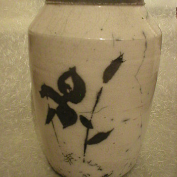 Japanese pottery vase