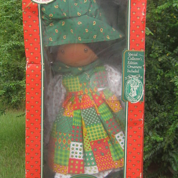 1974 Holiday Holly Hobbie Doll with Ornament - Dolls