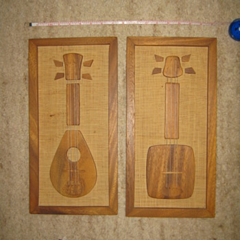 Enesco wood wall plaques - Mid-Century Modern