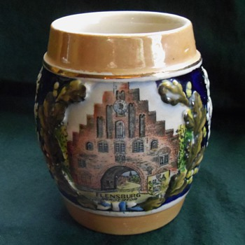 Vintage Beer Stein Mug from Flensburg, Germany