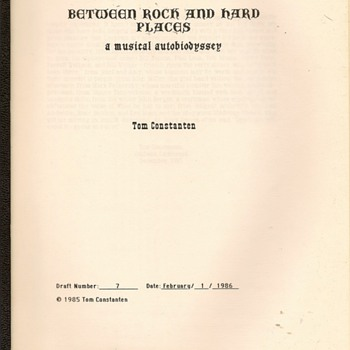 "Draft Copy and Note - Tom Constanten's ""Autobioddysey"" - Music Memorabilia"