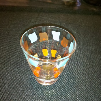 Vintage 50's-60's Era Shot Glasses - Art Glass