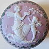Shafer-Vater Lavender Jasperware Vanity jar