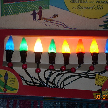 My 1948 Noma C6 series wired Christmas lights in original Box
