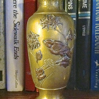 Japanese Mixed Metal Meiji Vase