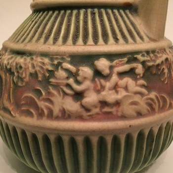 Rosevile Donatello Basket-handled Vase