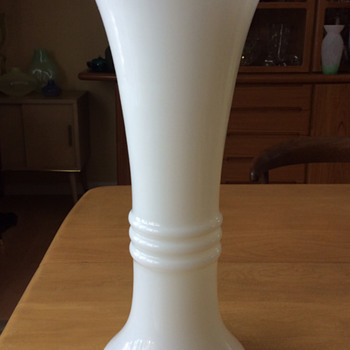 Tall Milk Glass Vase