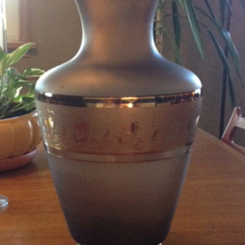 Very interesting mid-century brown glass vase