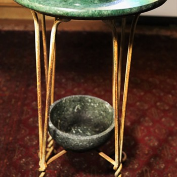 My Greenstone and Twisted Iron Table - Furniture