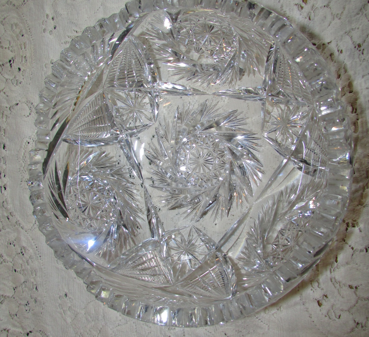 Vintage Cut Glass Bowl 30